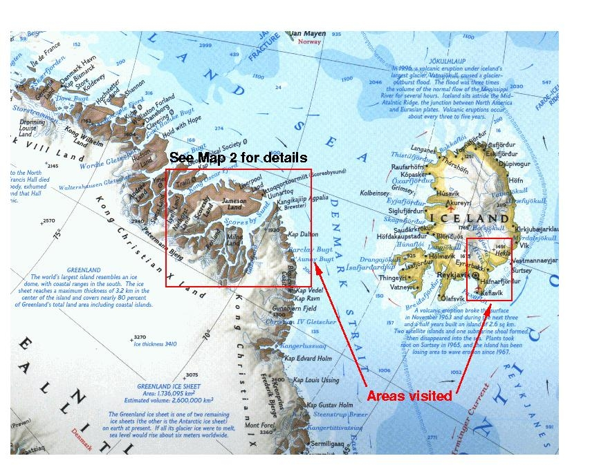 Iceland and greenland locations map 1 iceland and greenland gumiabroncs Gallery